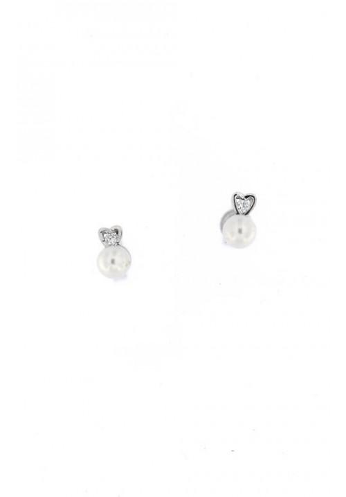 Orecchini in Argento e Perle con Zirconi - PLOR29AR