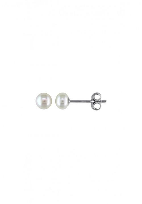 Orecchini in Argento e Perle Acqua Dolce Cipollina 4 1/2 - 5