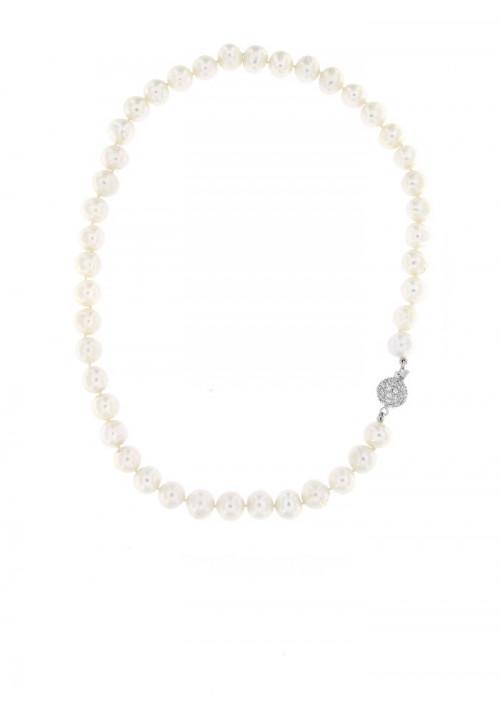 Collana perle di fiume Chiusura Argento - PLCL05AR