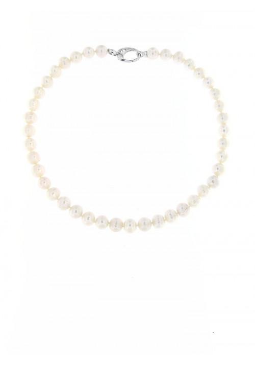 Collana perle di fiume Chiusura Argento - PLCL14AR
