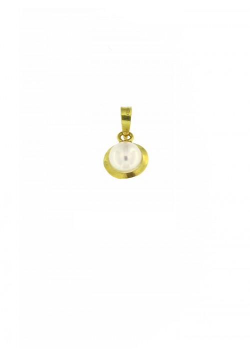 Ciondolo in oro 18 kt con perla coltivata in acqua dolce - PERCN09ORO
