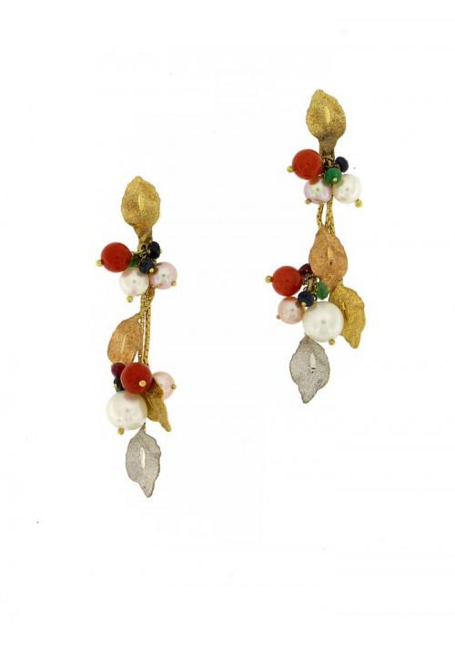 Orecchini in oro 18 kt con perla coltivata in acqua dolce - PEROR37ORO