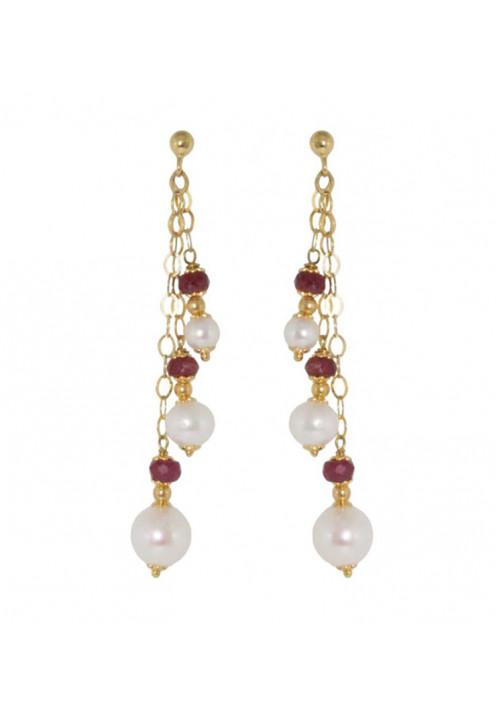 Orecchini in oro 18kt con perle coltivate di acqua dolce