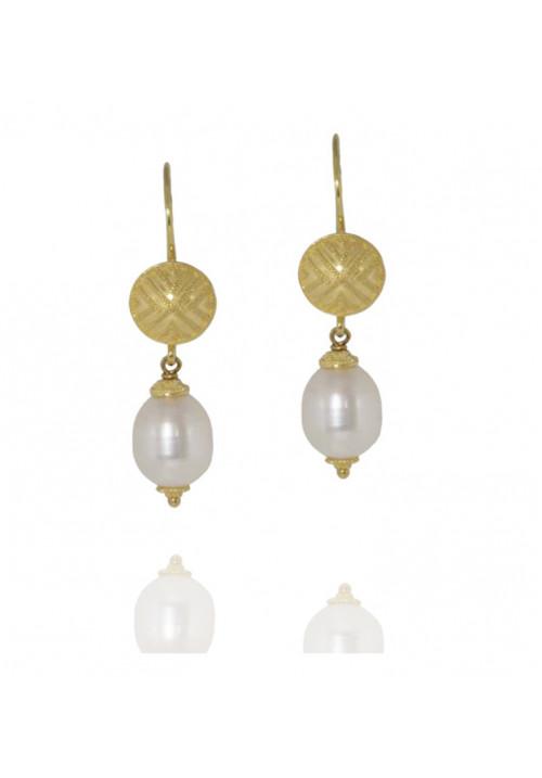 Orecchini in oro 18kt con perle