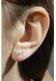 Orecchini perle Coltivate Giapponesi montate in oro bianco 18 kt  - 6.5 mm